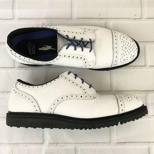 Allen Edmonds Jack Nicklaus golf shoes white